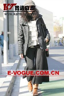 街头抓拍:东京MM初冬时尚装扮(1) 女式休闲装 服装潮流 街头 着装打扮
