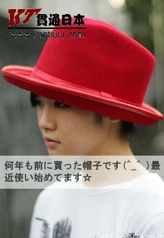 看日本MM如何戴时尚帽子