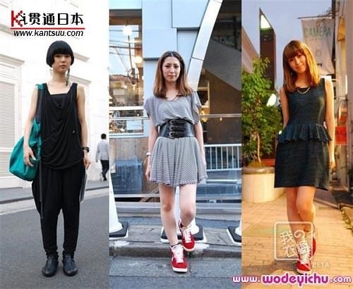 低调的色彩、简洁的款式倒也凸显了日本MM不同一面的气质