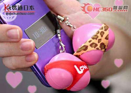 日本最新手机挂饰可爱诱人的屁屁桃