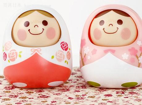 日本万代点头娃娃 森里中可爱贴心小精灵