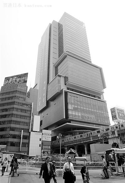 """日本东京涩谷崛起""""节能型""""新地标[图]"""