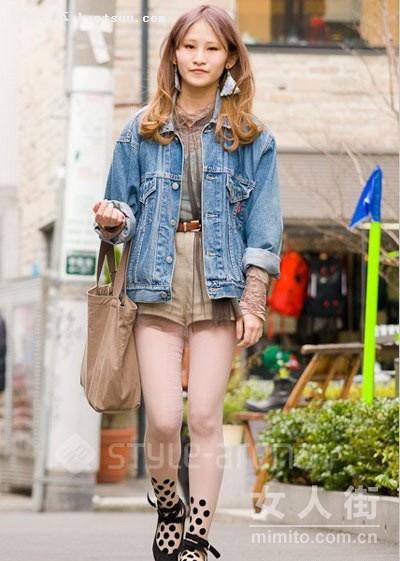 4月日本街头个性潮 特色女生装扮