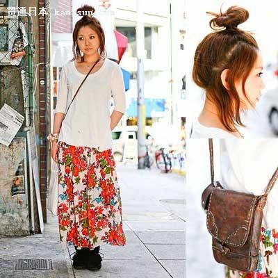 东京街头女孩 叠穿撞色搭配造型