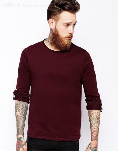 有型且保暖 男士挑选长T恤的3个要领