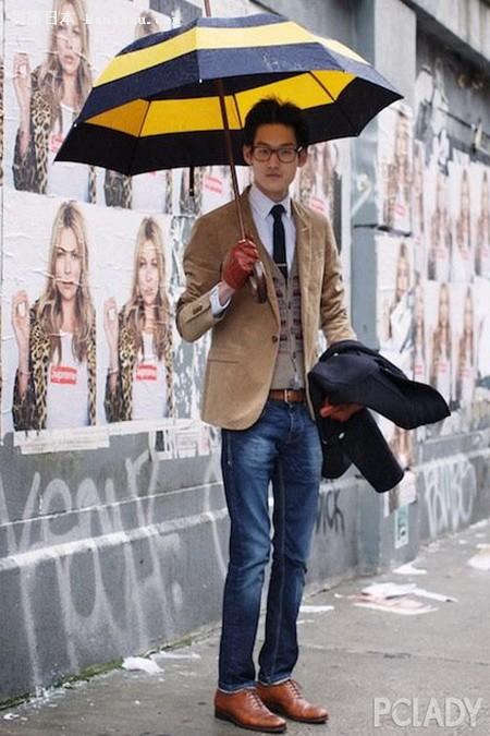 春雨迎春!绅士型男雨伞造型搭配