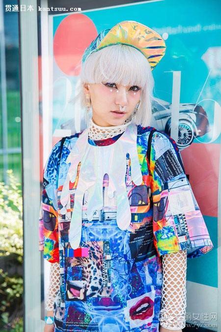 2015日本时尚 东京街头女达人潮爆眼球