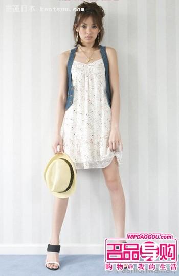 A字吊带裙 平胸女生穿才最完美