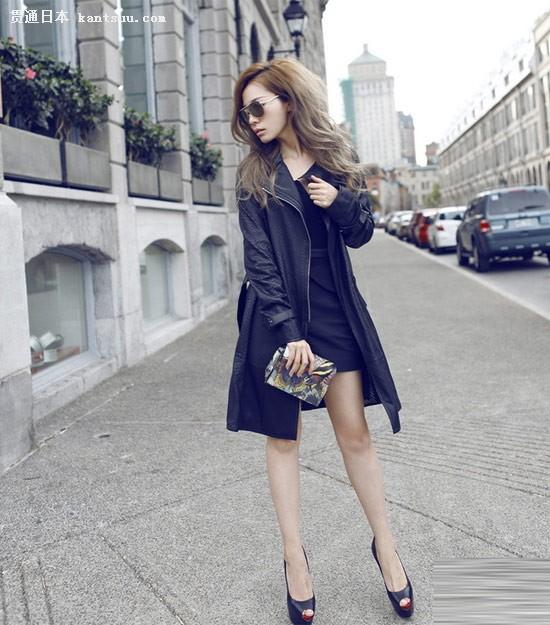 张靓颖异国街拍 全黑造型绽放东方优雅图片