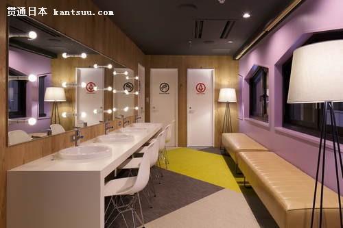 网吧女性洗手台和卫生间.