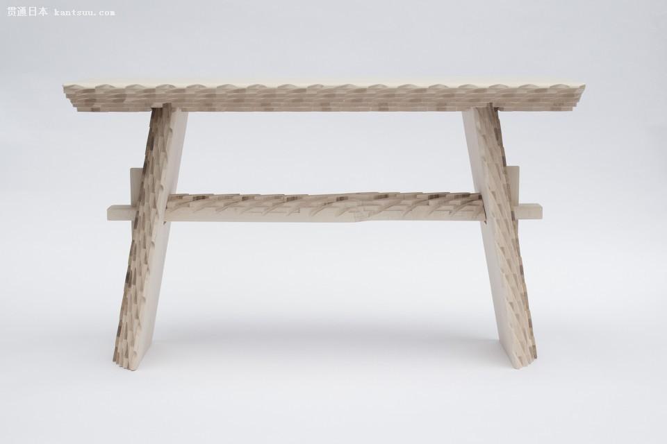 用传统日本美学的数字化制造家具,居然这么不一样!