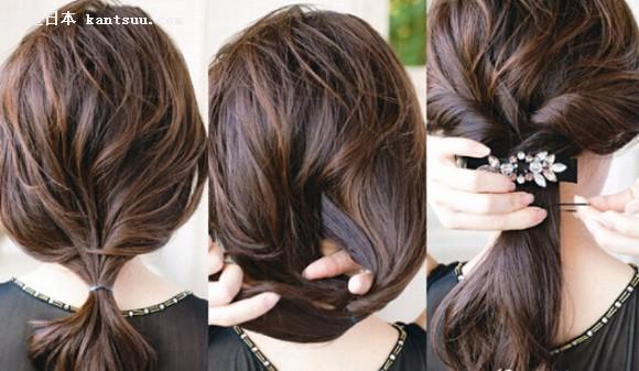 卷发怎么扎 麻豆示范最美扎发