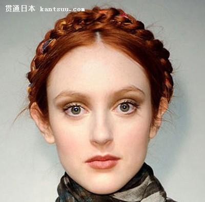 欧美复古盘发发型图片 展现优雅气质