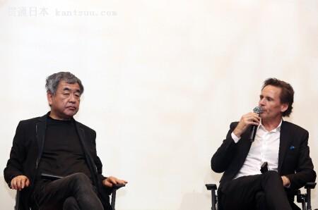 隈研吾与西岸置业总裁Ian Gillespie(右)