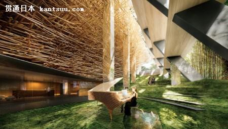 带有日式花园的表演空间