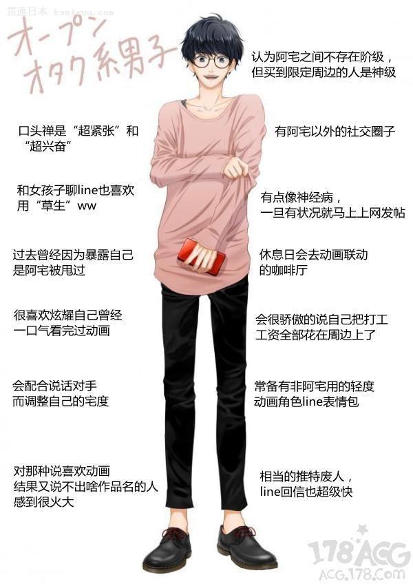 """日本妹子最喜欢的宅男类型:口头禅是""""超兴奋"""""""